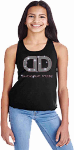 Diamond Dance Youth Girls Racerback Tank Beckys-Boutique.com