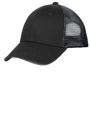 Double Down Black/Gray Mesh back Trucker Hat hat Becky's Boutique