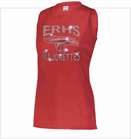 East River High School ERHS Majorette Ladies Sleeveless practice tank Ladies tank top Beckys-Boutique.com Small