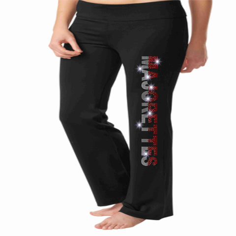 East River High School ERHS Majorette warm up yoga pants Yoga Pants Beckys-Boutique.com Extra-Small