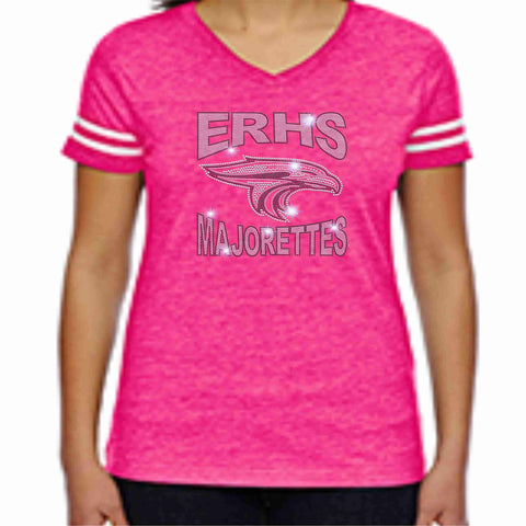 East River High School ERHS Majorettes Pink out Jersey Shirt with name Jersey Beckys-Boutique.com Extra-Small