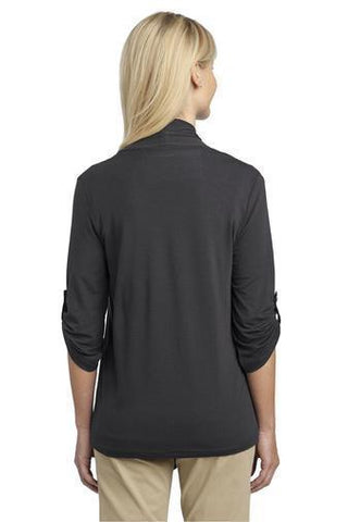 Image of Eastbrook Elementary - Womens Dark Gray Button Sleeve Cardigan Cardigan Beckys-Boutique.com