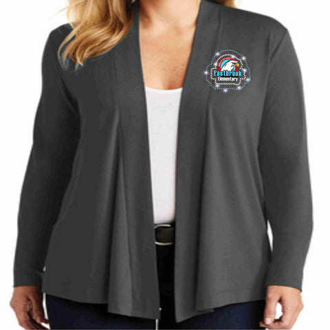 Eastbrook Elementary - Womens Long Sleeve Cardigan Cardigan Beckys-Boutique.com Extra Small