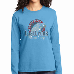 Eastbrook Elementary - Womens Long Sleeve Crew Neck Shirt Ladies Long Sleeve crew neck Beckys-Boutique.com Extra Small