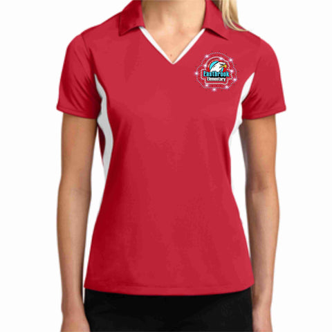 EastBrook Elementary - Womens White Side Polo polo Beckys-Boutique.com Extra Small