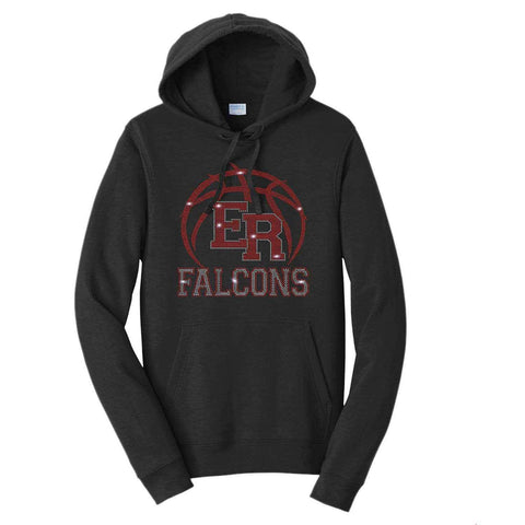 ER Basketball -East River Falcons- High School - Hoodie Sweatshirt Hoodie Sweatshirt Becky`s Boutique Extra Small