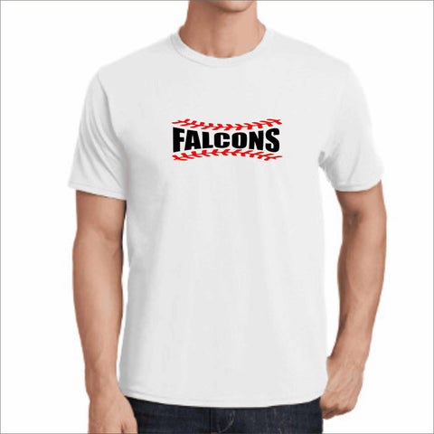 ERHS Falcons Baseball- East River High School Dri-Fit Short Sleeve Shirt dri-fit t-shirt Becky's Boutique Small White
