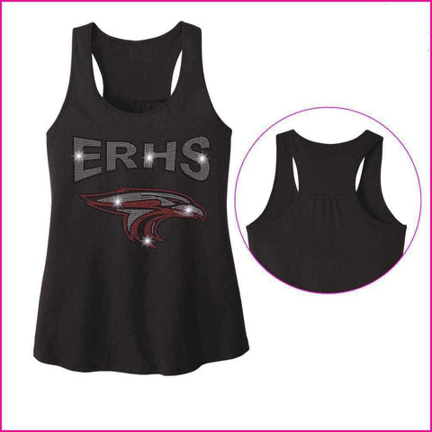 ERHS with Falcon Head- High School - Ladies Racerback Tank ladies racerback tank Becky`s Boutique Extra Small