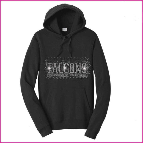 Falcons Firework - East River High School Spangle Rhinestone Bling shirt - Hoodie Sweatshirt Hoodie Sweatshirt Becky`s Boutique Extra Small