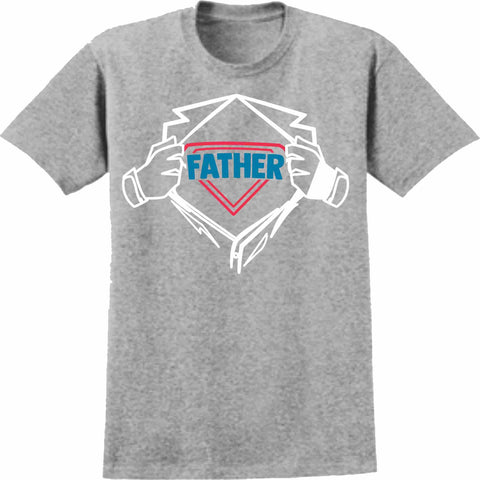 Father - Short Sleeve Screen Printed Shirt Short Sleeve Crew Neck Mens Beckys-Boutique.com Small