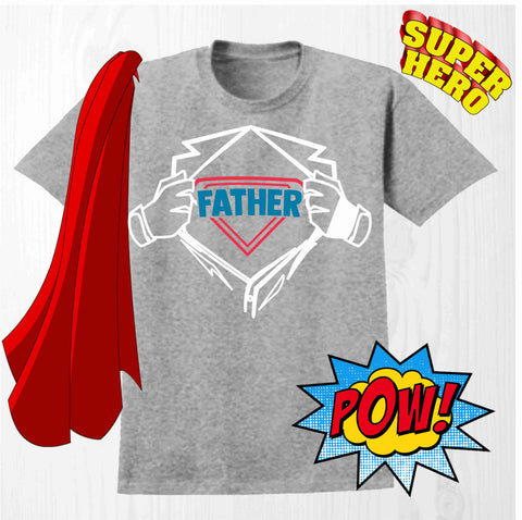 Father - Short Sleeve Screen Printed Shirt Short Sleeve Crew Neck Mens Beckys-Boutique.com
