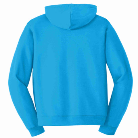 Get the Zest Hooded Sweatshirt- Holographic Bling White or Teal Hoodie Sweatshirt Becky's Boutique