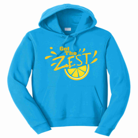 Get the Zest Hooded Sweatshirt- Matte Print White or Teal Hoodie Sweatshirt Becky's Boutique S Teal