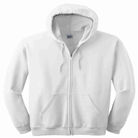 Get the Zest Hooded Zip Up Sweatshirt-Holographic Bling- White Zip Up Hoodie Becky's Boutique