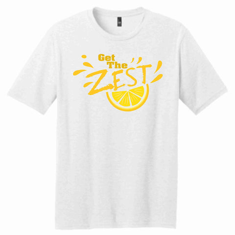 Get the Zest Mens Short Sleeve Crew Neck-Matte Print -White or Teal Mens Short Sleeve Becky's Boutique S White