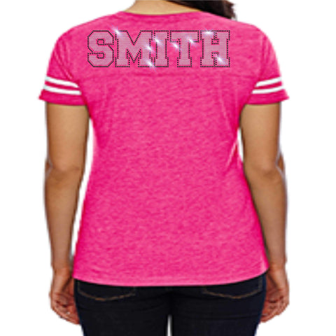 Hagerty High School HHS Majorettes Pink out Jersey Shirt with name Jersey Beckys-Boutique.com
