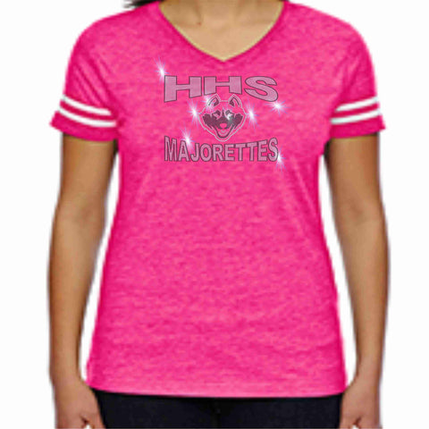 Hagerty High School HHS Majorettes Pink out Jersey Shirt with name Jersey Beckys-Boutique.com Extra-Small