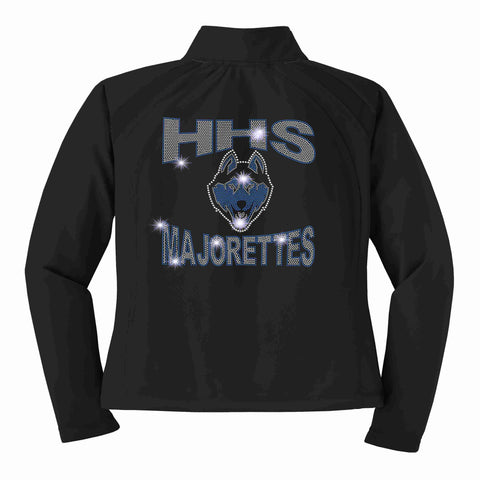 Hagerty High School JHS Majorette warm zip up jacket Zip up jacket Beckys-Boutique.com