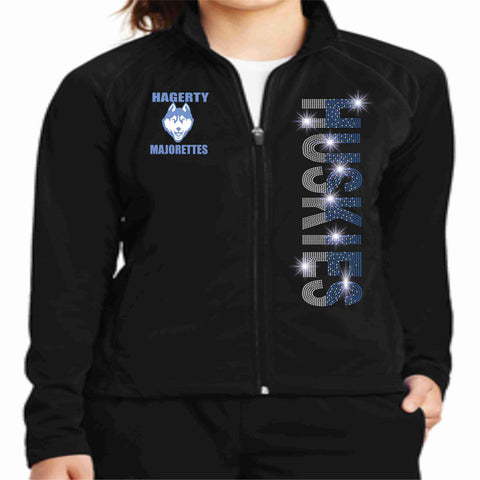 Hagerty High School JHS Majorette warm zip up jacket Zip up jacket Beckys-Boutique.com Extra-Small