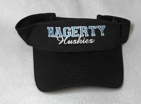 Hagerty Huskies Visor - Black-Visor-Becky's Boutique-Beckys-Boutique.com