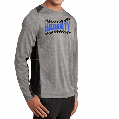 Hagerty High School Mens Gray Dri-fit Huskies Baseball Long Sleeve Shirt VIEW ALL DESIGNS Becky's Boutique Mens Small Hagerty Baseball Threads Matte Vinyl