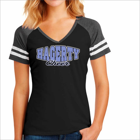 Hagerty PW Cheer Jersey T-Shirt Black Beckys-Boutique.com Small Design 3