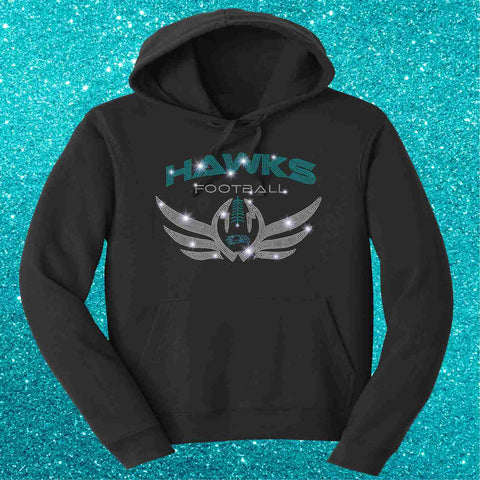 Hawks Football Unisex Hoodie-Hoodie Sweatshirt-Becky's Boutique-Extra-small-Beckys-Boutique.com