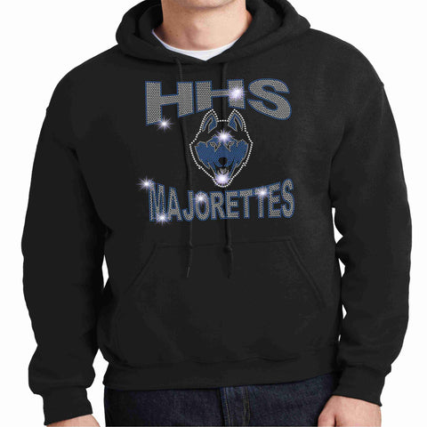 HHS Majorette Hoodie - Available in Black Hoodie Sweatshirt Beckys-Boutique.com Small Black