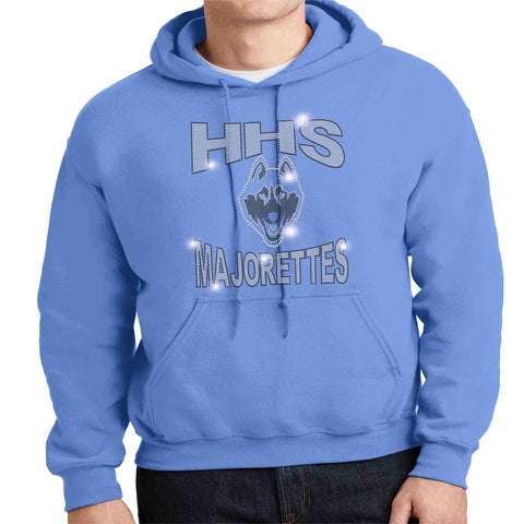 HHS Majorette Hoodie - Available in Black Hoodie Sweatshirt Beckys-Boutique.com Small Columbia Blue