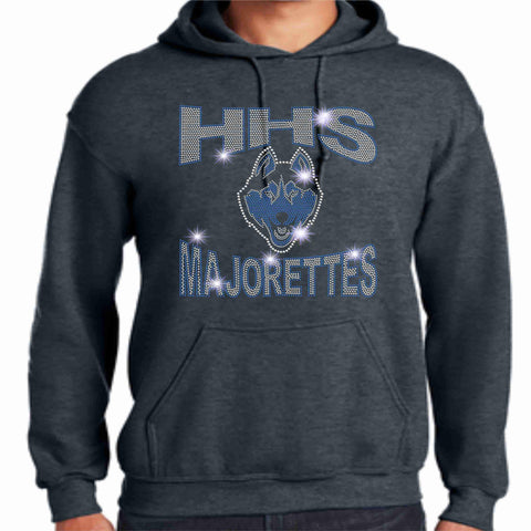 HHS Majorette Hoodie - Available in Black Hoodie Sweatshirt Beckys-Boutique.com Small Dark Heather Gray