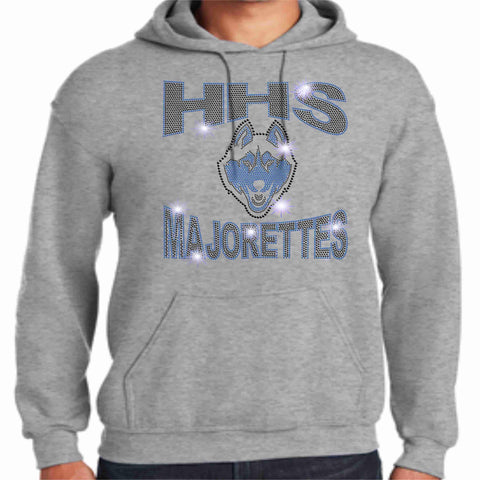 HHS Majorette Hoodie - Available in Black Hoodie Sweatshirt Beckys-Boutique.com Small Light Gray