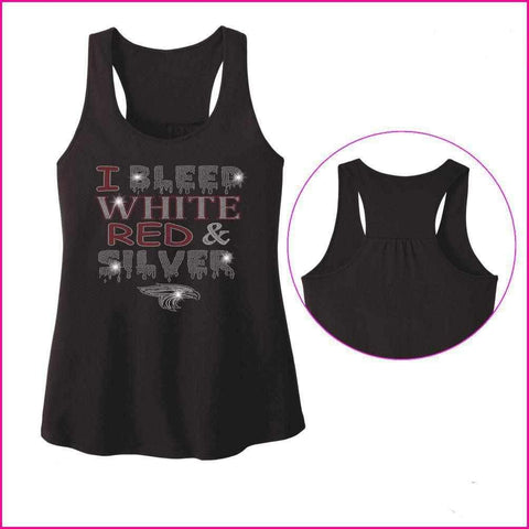 I Bleed Red, White and Silver- East River High School - Ladies Racerback Tank ladies racerback tank Becky`s Boutique Extra Small