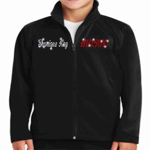 Inferno Heat Allstars Cheer Youth Jacket Youth Zip Up Jacket Becky's Boutique