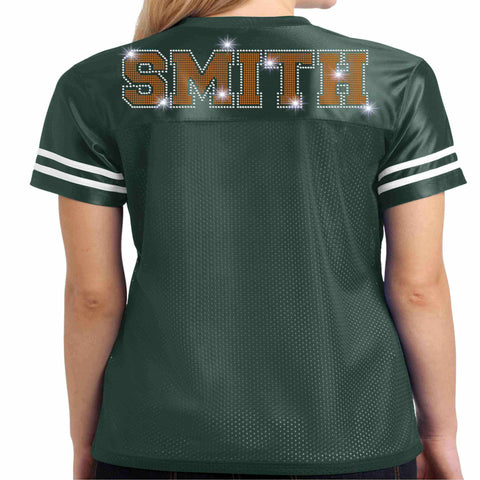 Jones High School JHS Majorette Jersey Shirt with name - Available in Green Jersey Beckys-Boutique.com