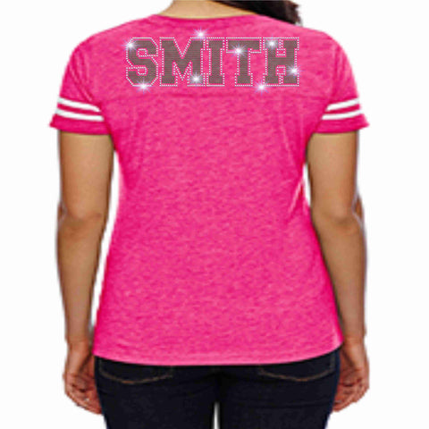Jones High School JHS Majorette Pink out Jersey Shirt with name Jersey Beckys-Boutique.com