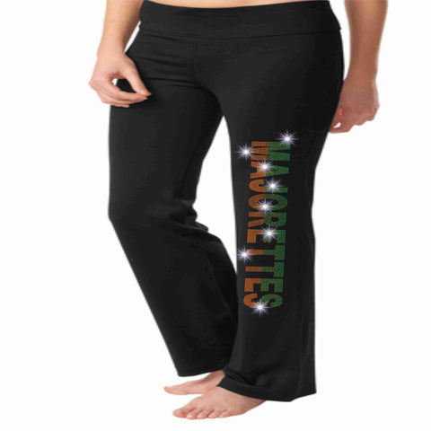 Image of Jones High School JHS Majorette warm up yoga pants Yoga Pants Beckys-Boutique.com Extra-Small
