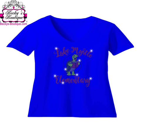 Lake Myrtle Elementary School Turtle Spangle Rhinestone Bling shirt - available in adult, youth, short, long sleeve, tank or hoodie sweatshirt VIEW ALL DESIGNS Becky's Boutique