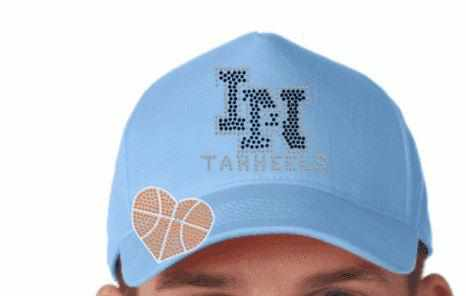 Image of Lake Nona Tarheels Hat-Spangle Rhinestone Bling or Embroidery - Multiple colors available (Adult and youth sizes) Schools Becky's Boutique
