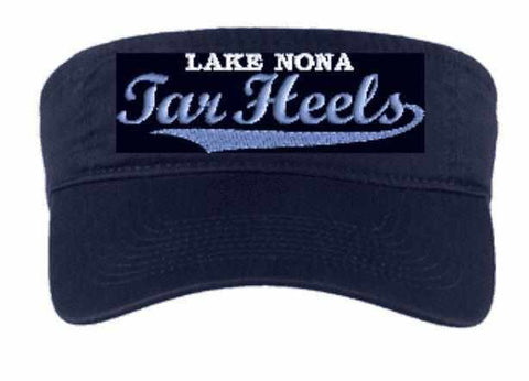 Image of Lake Nona Tarheels Visor- Spangle Rhinestone Bling or Embroidery -Multiple colors available Schools Becky's Boutique