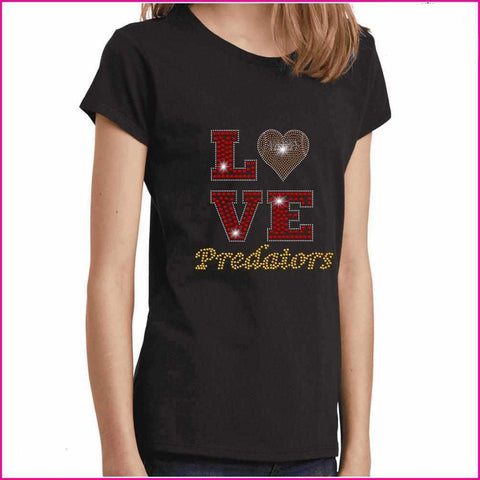 LOVE football heart East Orlando Junior Predators - EOJP - Youth Short Sleeve Youth Short Sleeve Becky`s Boutique Extra Small