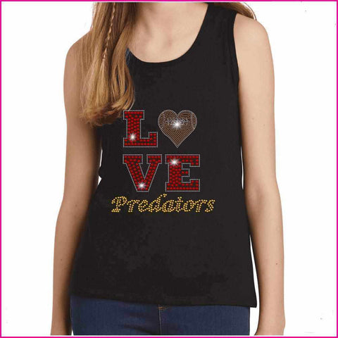 LOVE football heart East Orlando Junior Predators - EOJP - Youth Tank Youth Tank Becky`s Boutique Extra Small