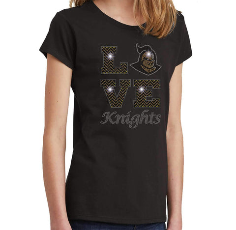 LOVE UCF University of Central Florida Knightro - Youth Short Sleeve Youth Short Sleeve Becky`s Boutique Extra Small