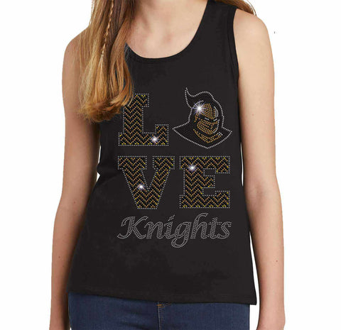 LOVE UCF University of Central Florida Knightro - Youth Tank Youth Tank Becky`s Boutique Extra Small