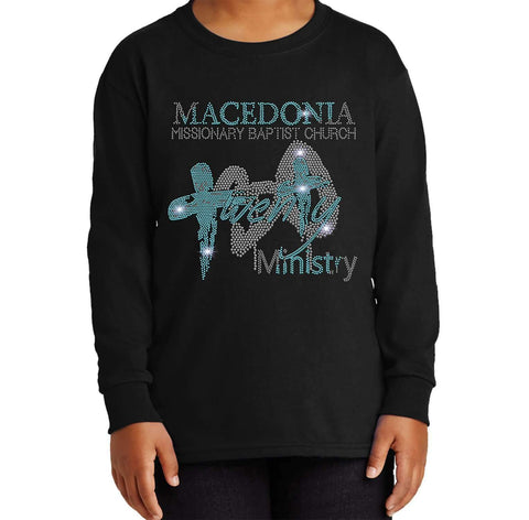 Macedonia Missionary Baptist Church shirt twenty 30- Youth Long Sleeve Youth Long Sleeve Becky`s Boutique Extra Small