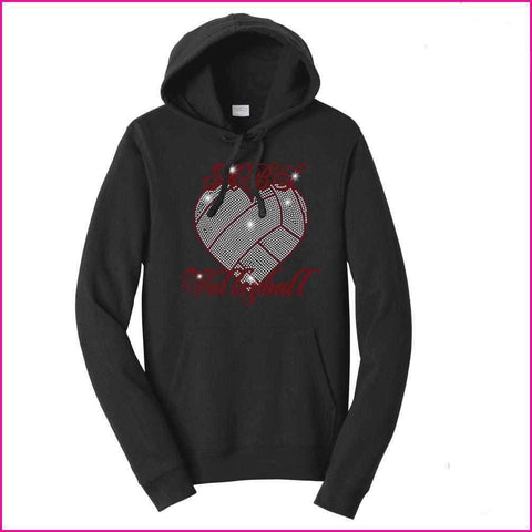 MBS Heart Volleyball Spangle Rhinestone Bling shirt - Hoodie Sweatshirt Hoodie Sweatshirt Becky`s Boutique Extra Small