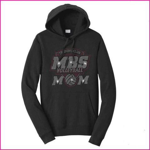 MBS Volleyball Mom Spangle Rhinestone Bling shirt - Hoodie Sweatshirt Hoodie Sweatshirt Becky`s Boutique Extra Small