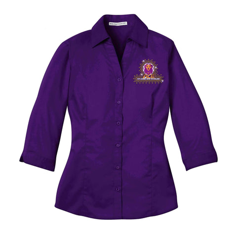 OCPS ACE Lions Button down shirt- comes in mens long sleeve, womens short, long and 3/4 sleeve Schools Becky's Boutique