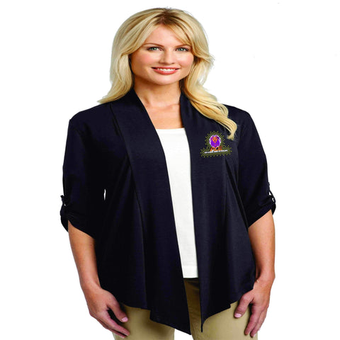 Image of OCPS ACE Lions embroidered soft flowy cardigan Schools Becky's Boutique Extra-small womens Yes please Yes please
