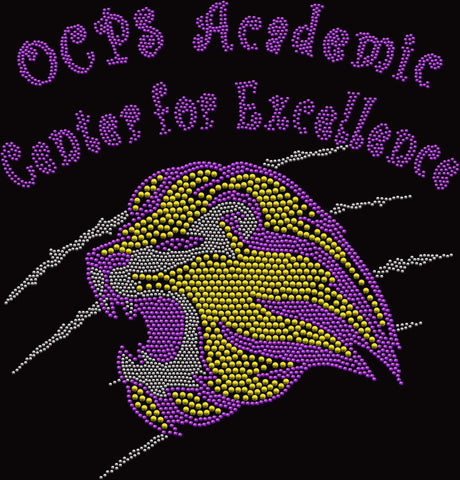 OCPS ACE Lions Mesh Jersey- Spangle Rhinestone Bling mesh jersey Schools Becky's Boutique