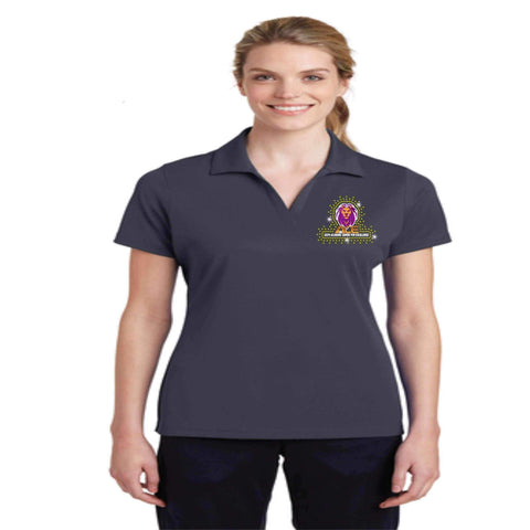 OCPS ACE Racer Mesh Polo-solid color with embroidered logo and optional spangle rhinestone bling Schools Becky's Boutique
